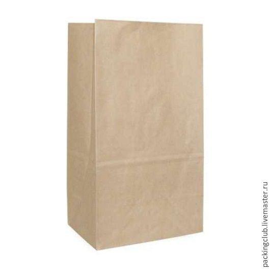 Упаковка ручной работы. Ярмарка Мастеров - ручная работа. Купить Крафт пакет с объемным  дном 180х120х290мм. Handmade. Коричневый, крафт