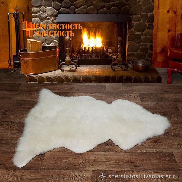Овечья шкура XL-размер белая, Ковры, Нальчик, Фото №1
