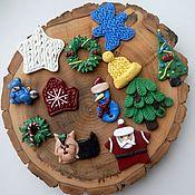 Куклы и игрушки ручной работы. Ярмарка Мастеров - ручная работа Украшения на елку из полимерной глины. Handmade.