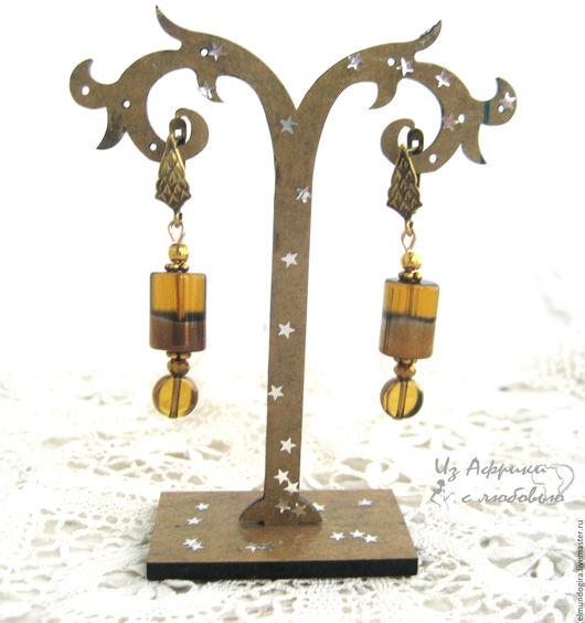 Серьги ручной работы. Комплект весенний:Сережки и ожерелье