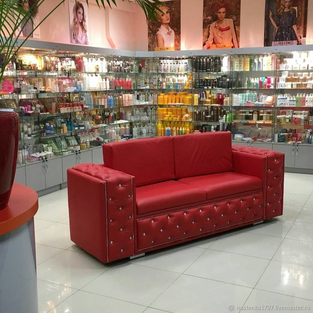red sofa with rhinestones, Sofas, Krasnodar,  Фото №1