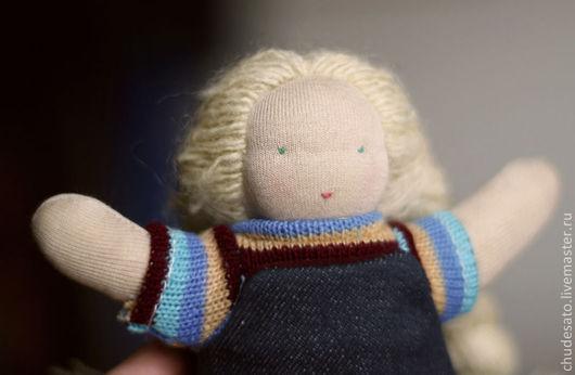 Вальдорфская игрушка ручной работы. Ярмарка Мастеров - ручная работа. Купить Вальдорфская кукла. Handmade. Бежевый, натуральные материалы, шерсть