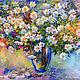 """Картины цветов ручной работы. Ярмарка Мастеров - ручная работа. Купить Картина маслом """"Пышный Букет Ромашек"""". Handmade."""