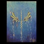 """Картины и панно ручной работы. Ярмарка Мастеров - ручная работа """"Валькирия. Дыхание"""" - коллекционная картина. Handmade."""
