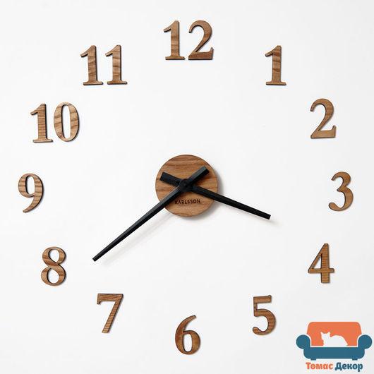 Настенные часы из массива дуба. Размер на фото: диаметр 40 см (возможно от 40-50 см). `Томас Декор` Клюева Елизавета
