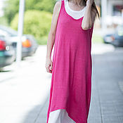 Одежда handmade. Livemaster - original item Long summer dress made from two parts - DR0268CK. Handmade.