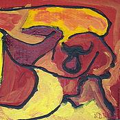 Картины и панно ручной работы. Ярмарка Мастеров - ручная работа Абстрактная живопись Коррида. Handmade.