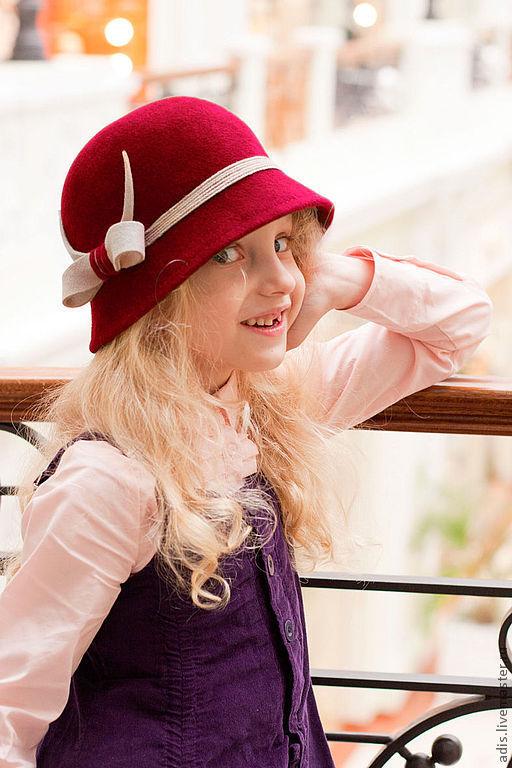 Шляпы ручной работы. Ярмарка Мастеров - ручная работа. Купить шляпа клош бордовая. Handmade. Бордовый, ретро
