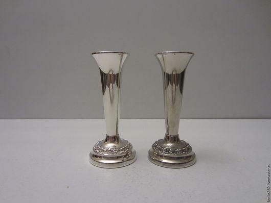 Винтажная посуда. Ярмарка Мастеров - ручная работа. Купить Две вазы, серебрение.. Handmade. Серебренные вазы, все для сервировки, подарок