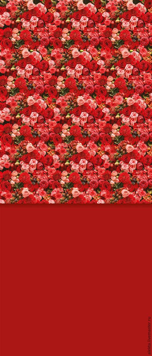 """Фото и видео услуги ручной работы. Ярмарка Мастеров - ручная работа. Купить Виниловый фотофон """"Стена из красных роз, красный пол"""", 150х350 см. Handmade."""