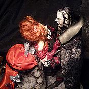 """Куклы и игрушки ручной работы. Ярмарка Мастеров - ручная работа коллекционные куклы """"Totale Finsternis - вампир и девушка"""". Handmade."""
