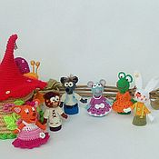 "Куклы и игрушки handmade. Livemaster - original item Пальчиковый театр ""Теремок"". Handmade."
