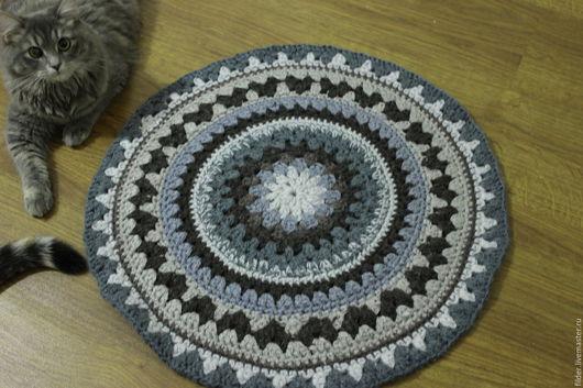 Текстиль, ковры ручной работы. Ярмарка Мастеров - ручная работа. Купить вязанные коврики из шерсти. Handmade. Коврики