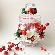 Подарки к праздникам ручной работы. Ярмарка Мастеров - ручная работа Баночка пожеланий Зимние ягоды. Handmade.