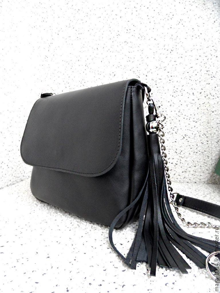 46cadc09903e Женские сумки ручной работы. Ярмарка Мастеров - ручная работа. Купить  Черная кожаная сумка с ...