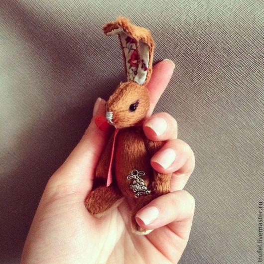 Мишки Тедди ручной работы. Ярмарка Мастеров - ручная работа. Купить Зайка. Handmade. Коричневый, Заюша, теддизаяц, ручная работа