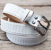 handmade. Livemaster - original item Women`s leather belt made of Python Leather men`s belt made of reptile. Handmade.
