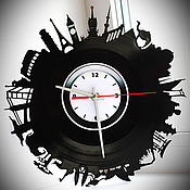 Часы классические ручной работы. Ярмарка Мастеров - ручная работа Оригинальный подарок. Настенные часы Путешествие времени. Handmade.