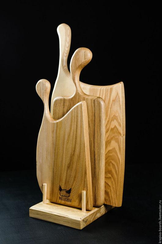 Кухня ручной работы. Ярмарка Мастеров - ручная работа. Купить Набор разделочных досок Три Дерева. Handmade. Бежевый, ясень