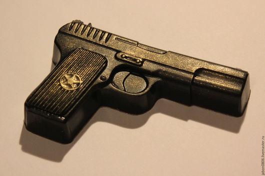 """Мыло ручной работы. Ярмарка Мастеров - ручная работа. Купить Мыло """"Пистолет"""". Handmade. Черный, 23 февраля, подарок коллегам"""