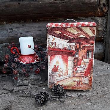 Для дома и интерьера ручной работы. Ярмарка Мастеров - ручная работа Короб, шкатулка Ежевичная поляна. Handmade.