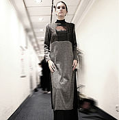 Одежда handmade. Livemaster - original item Long tunic with side slits, tunic dress knitwear and wool. Handmade.