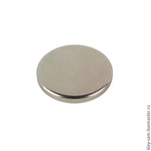 Аппликации, вставки, отделка ручной работы. Ярмарка Мастеров - ручная работа. Купить Неодимовый магнит дисковый d12х2мм. Handmade. Серебряный