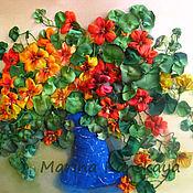 Картины и панно ручной работы. Ярмарка Мастеров - ручная работа Солнечная настурция. Handmade.