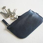 Сумки и аксессуары handmade. Livemaster - original item Key holder made of genuine leather (Black). Handmade.