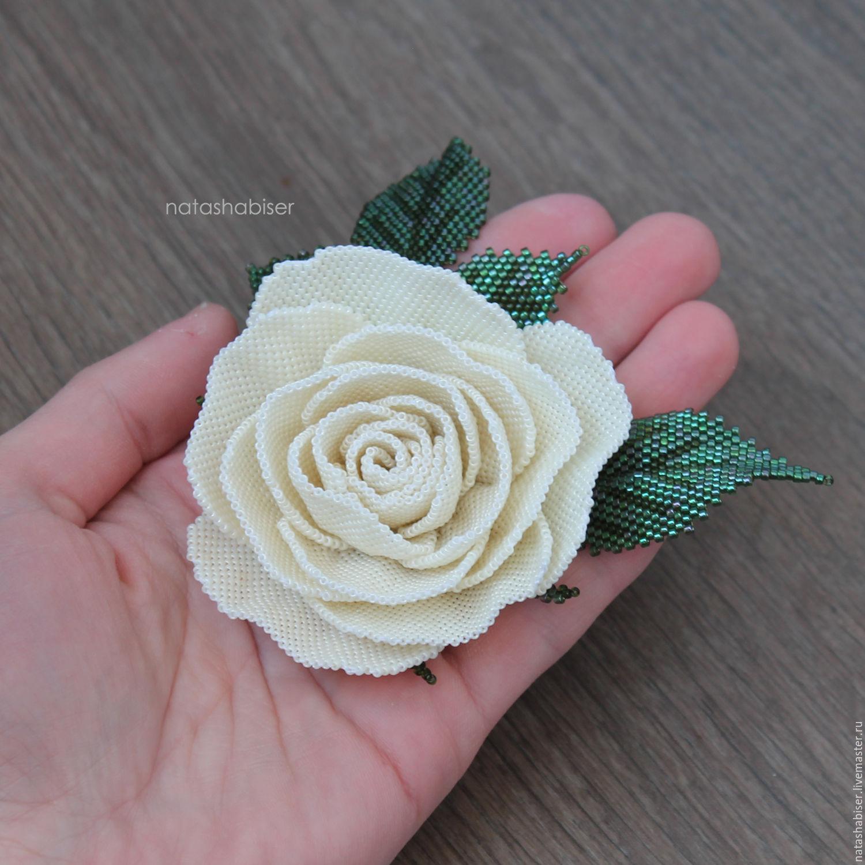 Вязание из бисера с цветами