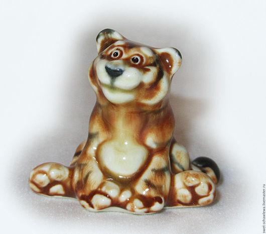 Миниатюрные модели ручной работы. Ярмарка Мастеров - ручная работа. Купить Весёлый  тигрёнок. Handmade. Рыжий, handmade