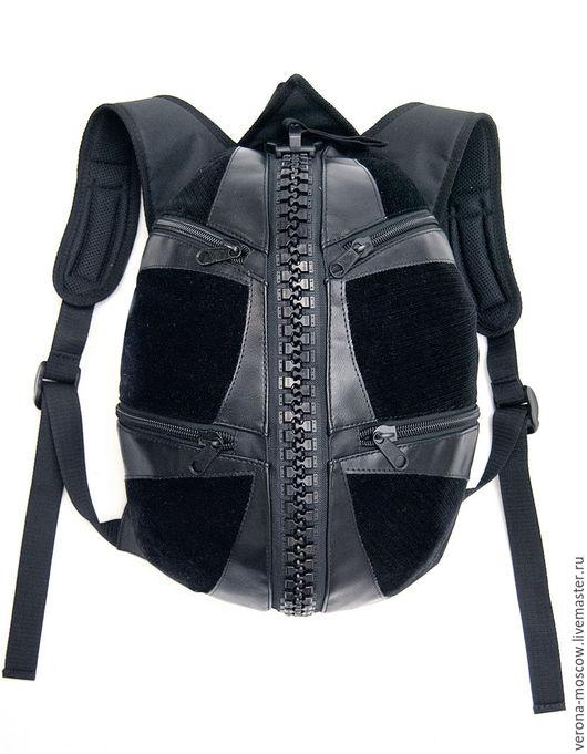 Рюкзаки ручной работы. Ярмарка Мастеров - ручная работа. Купить Джедай черный. Handmade. Комбинированный, рюкзак, рюкзак для города