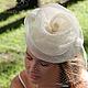 """Одежда и аксессуары ручной работы. Ярмарка Мастеров - ручная работа. Купить Свадебная вуалетка """"La Meringue"""" (Безе). Handmade. Белый"""