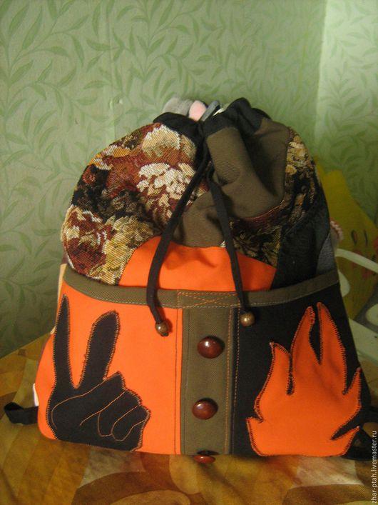 Сумки и аксессуары ручной работы. Ярмарка Мастеров - ручная работа. Купить Молодёжный рюкзак. Handmade. Рюкзак ручной работы