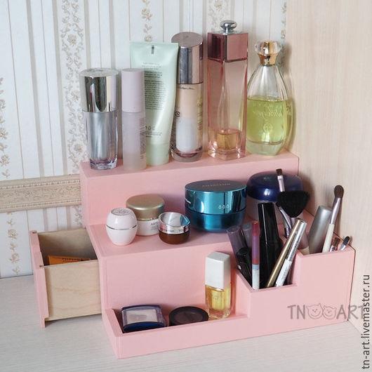 Мини-комоды ручной работы. Ярмарка Мастеров - ручная работа. Купить Органайзер для косметики розовый. Handmade. Комод для косметики