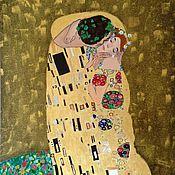 Картины и панно ручной работы. Ярмарка Мастеров - ручная работа Поцелуй 2013 (по мотивам картины Густава Климта). Handmade.
