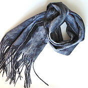 Аксессуары handmade. Livemaster - original item Cozy grey scarf.. Handmade.