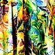 """Спортивная одежда ручной работы. Юбка для танца  """"Райские джунгли"""".. Анастасия 'Glory Dress Studio'. Ярмарка Мастеров. Фигурное катание"""
