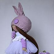Куклы и игрушки ручной работы. Ярмарка Мастеров - ручная работа Кукла-Зайка с цветочной тележкой. Handmade.