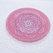 Посуда handmade. Livemaster - original item Pink decorative plate 20 cm. Handmade.