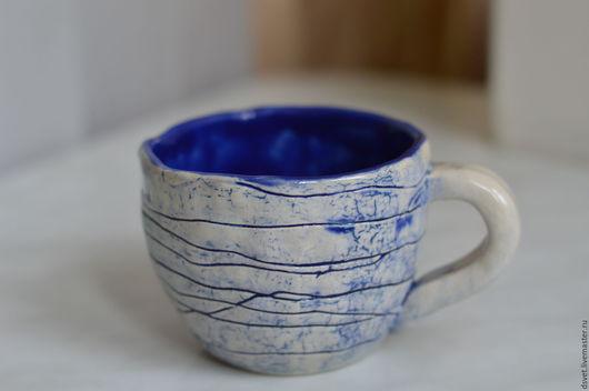 Кружки и чашки ручной работы. Ярмарка Мастеров - ручная работа. Купить Керамическая чашка. Handmade. Тёмно-синий, керамическая посуда