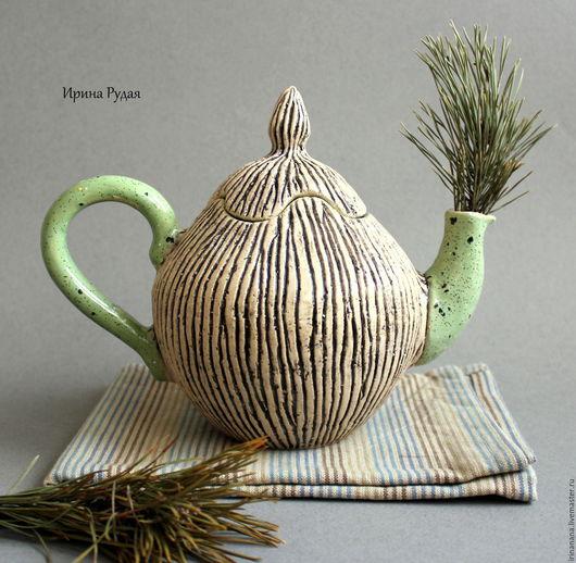 """Сервизы, чайные пары ручной работы. Ярмарка Мастеров - ручная работа. Купить Чайный сервиз """"Пикник на траве"""". Handmade. Чайник"""