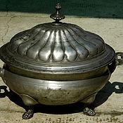 РЕЗЕРВ старинная оловянная супница