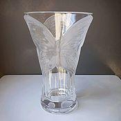 Винтаж handmade. Livemaster - original item Elegant vase in the style of Lalique.. Handmade.