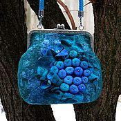 Сумки и аксессуары handmade. Livemaster - original item Bag with clasp: Felted handbag Witchcraft Lake.. Handmade.