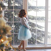 Одежда ручной работы. Ярмарка Мастеров - ручная работа Юбка для мамы небесно-голубого цвета. Handmade.