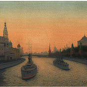 Картины и панно handmade. Livemaster - original item To purchase a painting of the Kremlin embankment. Two thousand eighteen. Handmade.