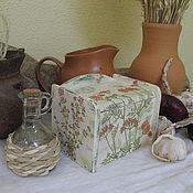 Банки ручной работы. Ярмарка Мастеров - ручная работа Ящичек (солонка) для соли, пряностей, сухих трав. Handmade.