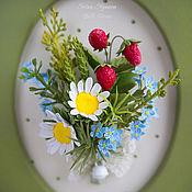 Цветы и флористика ручной работы. Ярмарка Мастеров - ручная работа Овальная рамка с полевыми цветами. Handmade.