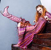 """Одежда ручной работы. Ярмарка Мастеров - ручная работа Платье """"Ягодный пирог с корицей"""" вязаное спицами. Handmade."""